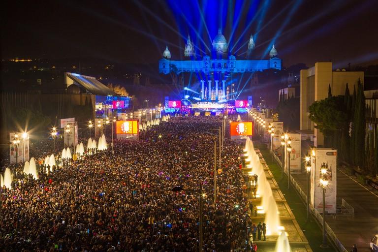 See in the New Year at Plaça d'Espanya © Ajuntament Barcelona