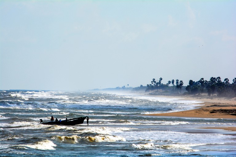 Tharangambadi (or Tranquebar) is situated on the coast on Bay of Bengal, South India