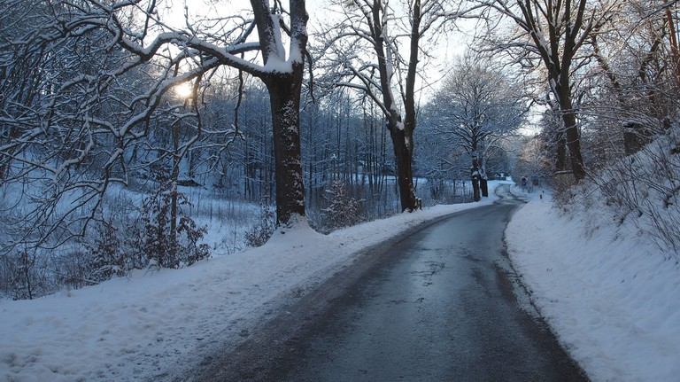 Icy road