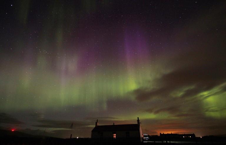 Mirrie Dancers Over Shetland, Scotland