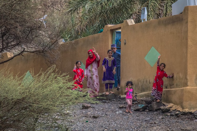 Friendly Omani family