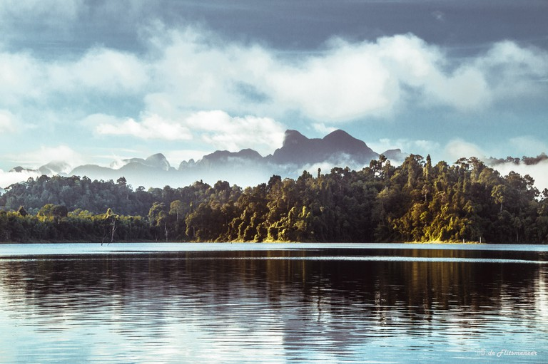 Misty mountains in Khao Sok National Park