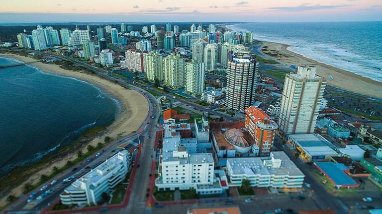 Punta del Este aerial view, Maldonado, Uruguay