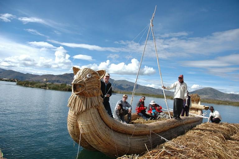 Uros boat
