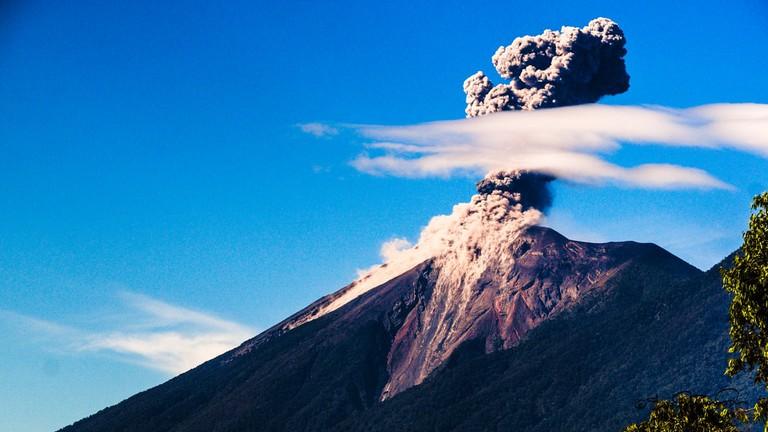 Antigua Guatemala volcano