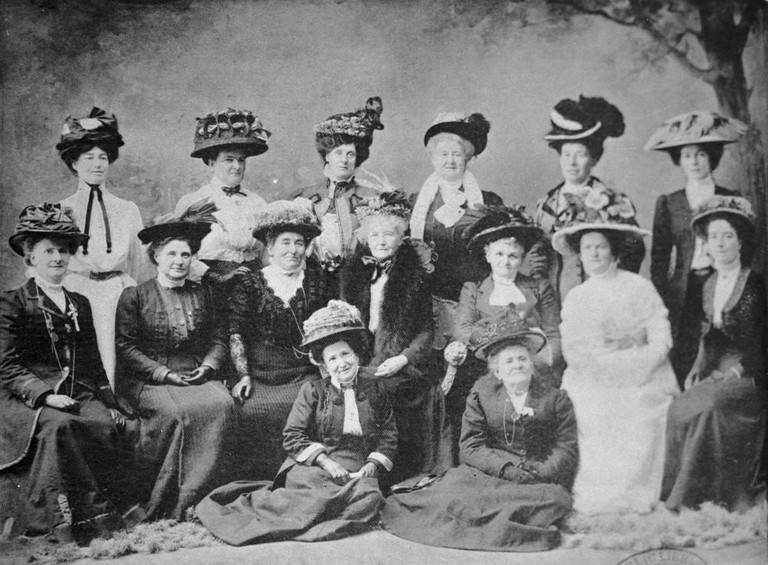 Delegates to the Australian Women's Conference in Brisbane 1909 suffragette movement in Queensland