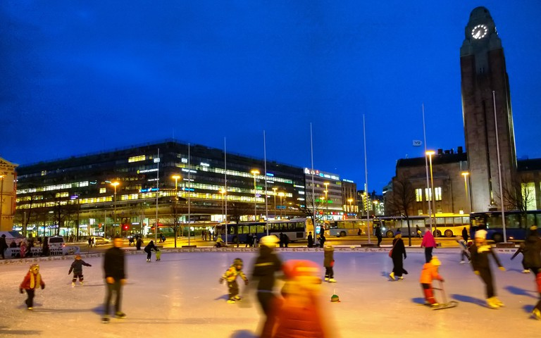 Ice rink in central Helsinki /  Timo Newton-Syms / Flickr
