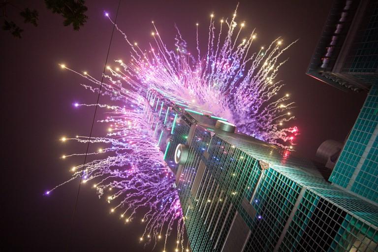 101 fireworks light up the night sky