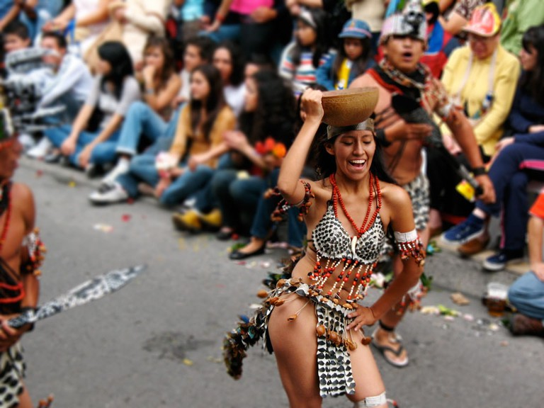 Carnival in Ambato, Ecuador