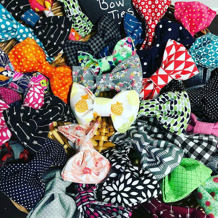 Freshly picked bow ties from @puppybrothercollars