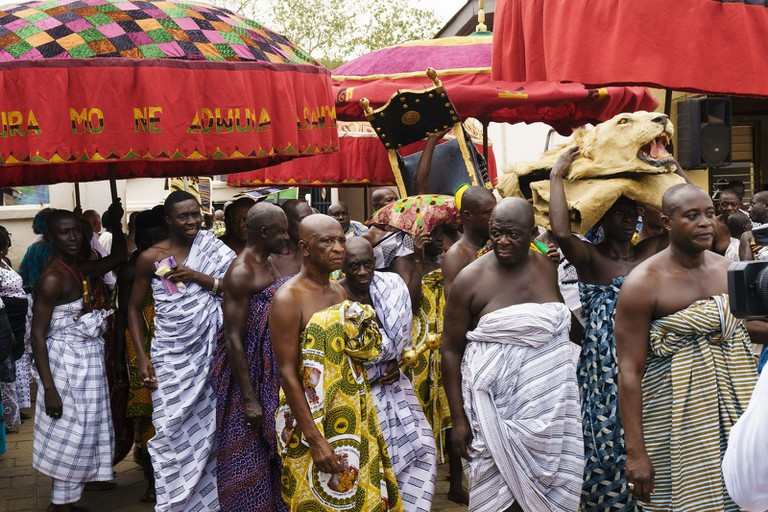 Procession of Ashanti King at Adae festival