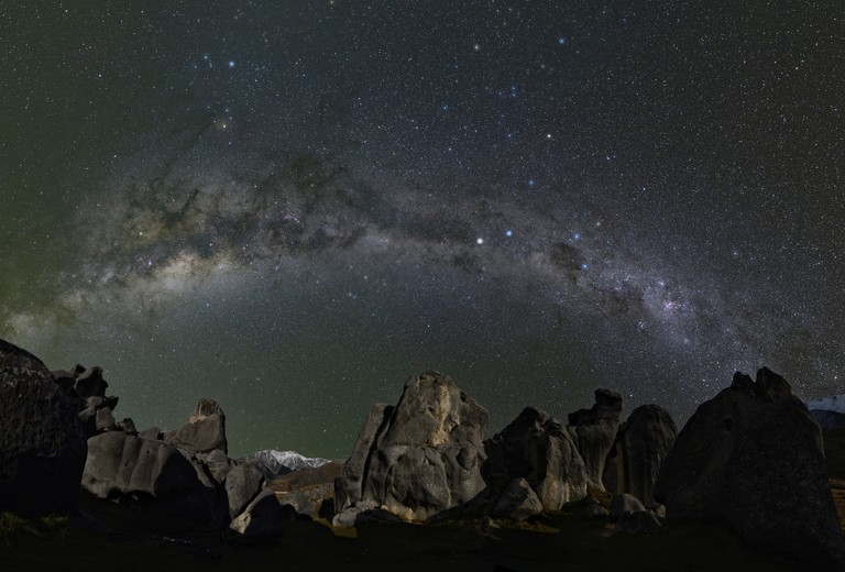 Milky Way over Castle Hill Village in Canterbury, New Zealand