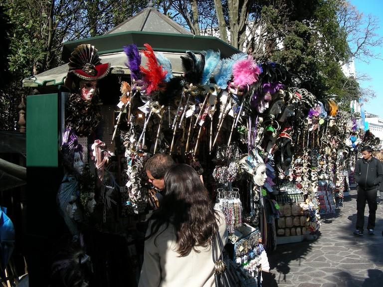 Kitschy souvenir stands near San Marco