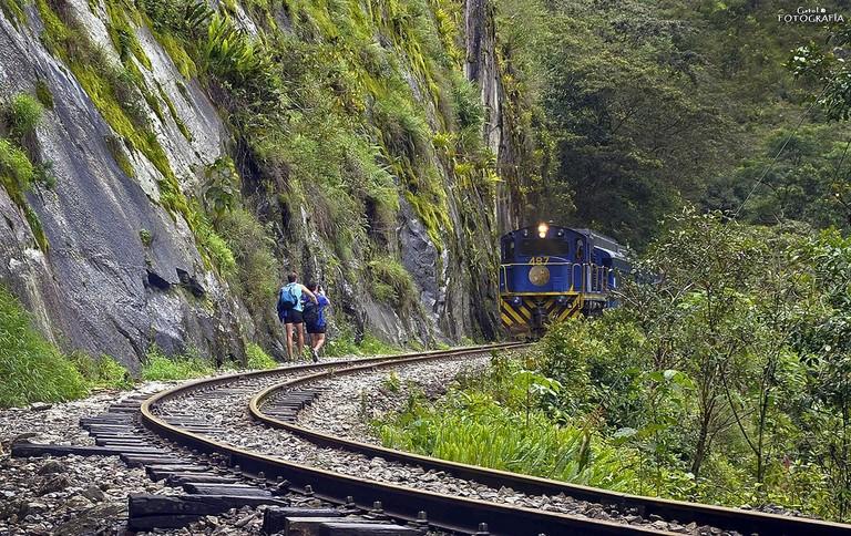 Train tracks hike
