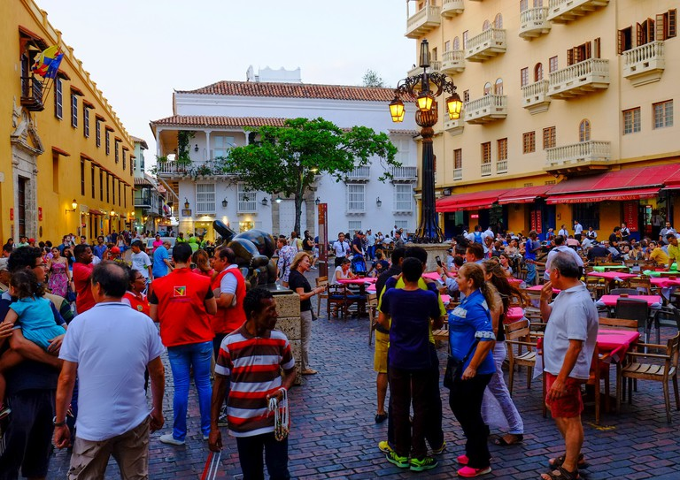 Plaza Santo Domingo is very popular with tourists