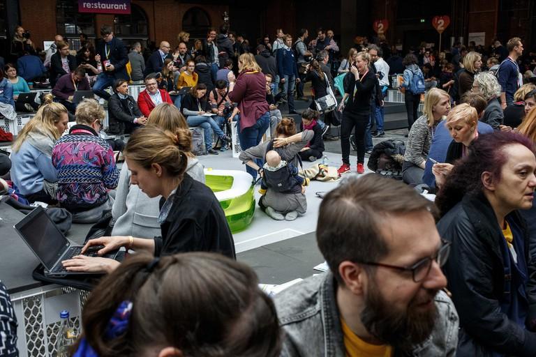 BesucherInnen am 09.05.2017 auf der re:publica (#rp17) in Berlin