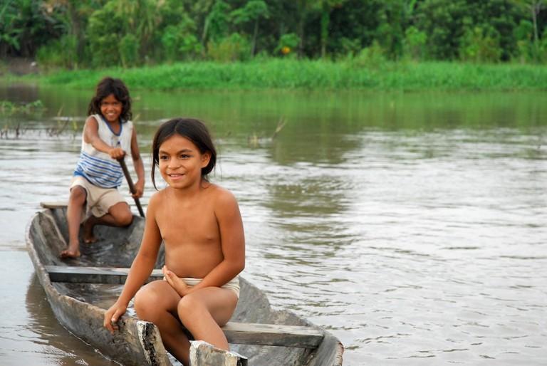 Locals near Iquitos