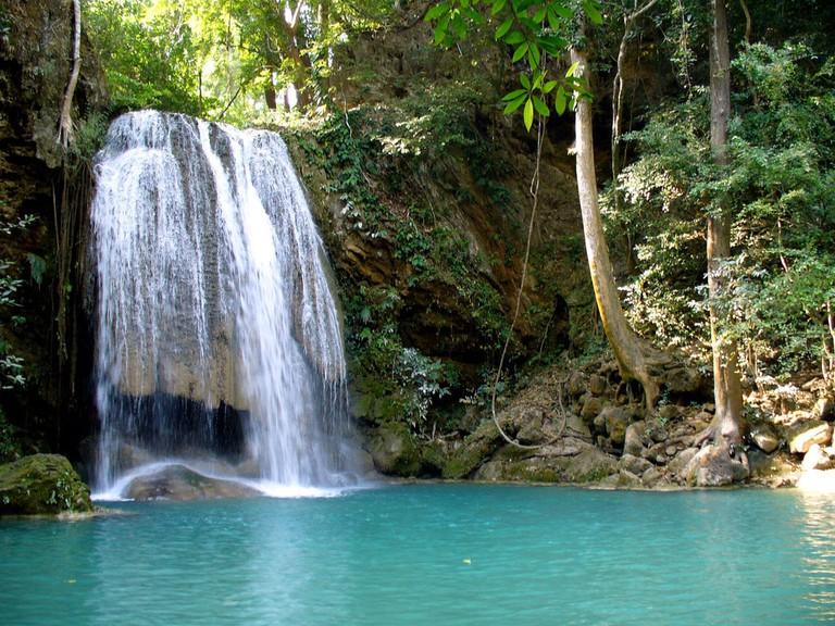 A waterfall at Erawan National Park
