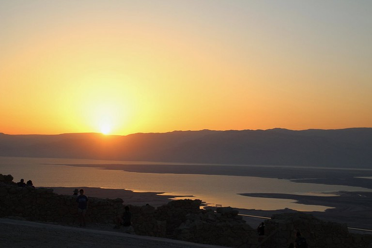 Sunrise from the top of Masada, Israel