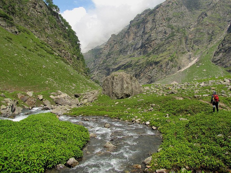 Lush valley of Hampta Pass