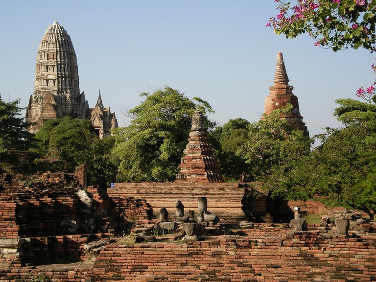 One of Ayutthaya's many temples