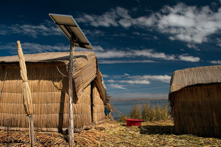 The floating island of Uros