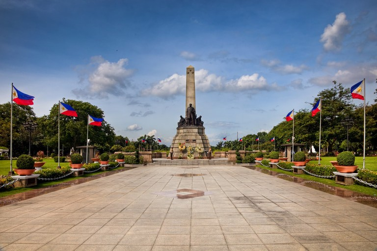 The Rizal Monument in Luneta, Manila