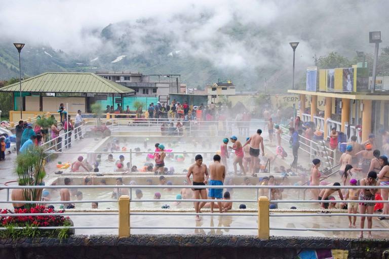 Public Baths, Baños de Agua Santa, Ecuador
