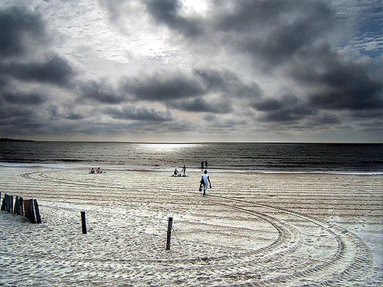 Peaceful beach at Montevideo, Uruguay
