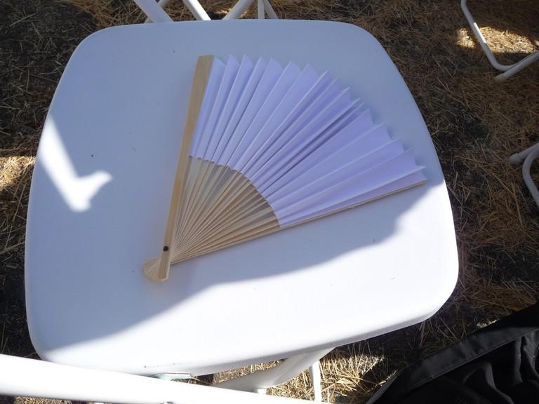 Hand fan on chair