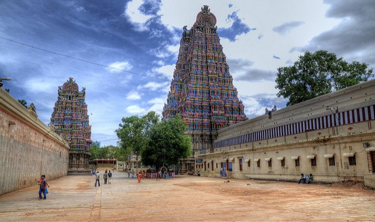 The colours of Meenakshi Temple