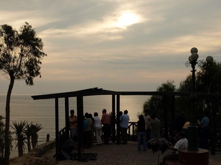 Sunset over Barranco, Lima