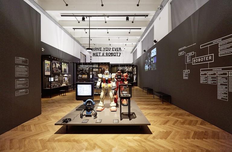 Exhibition view of Hello, Robot. Design between Human and Machine, MAK Exhibition Hall   © Peter Kainz/MAK