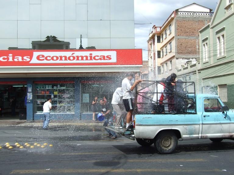 Water Fight, Carnival in Ecuador