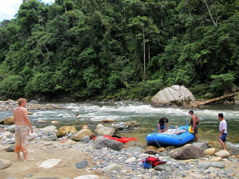 Rafting on the Río Jondachi, Ecuador