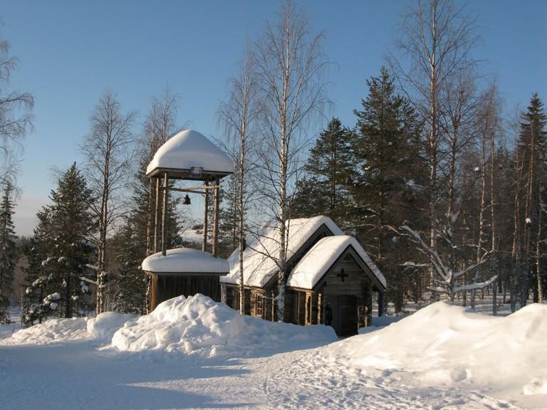 Church at Lainio Snow Village / Leo-setä / Flickr