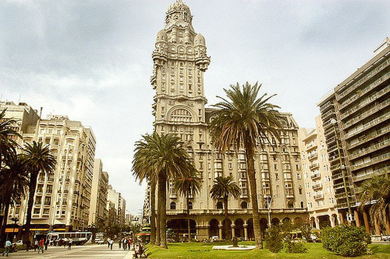 """One of the most prominent buildings in Montevideo's """"Old Town""""."""