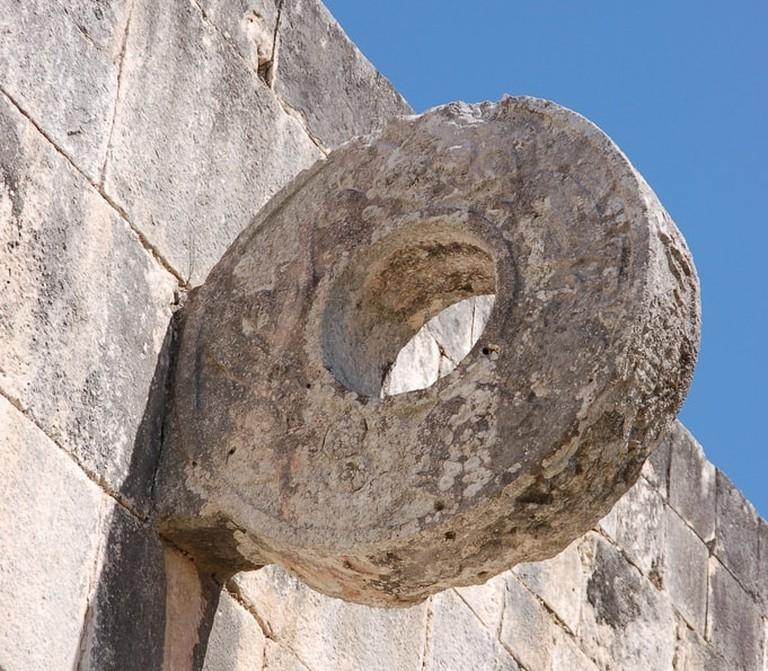 Mesoamerican ballgame hoop