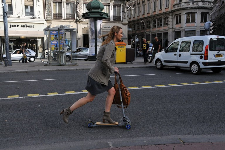 Lady on Scooter in Paris