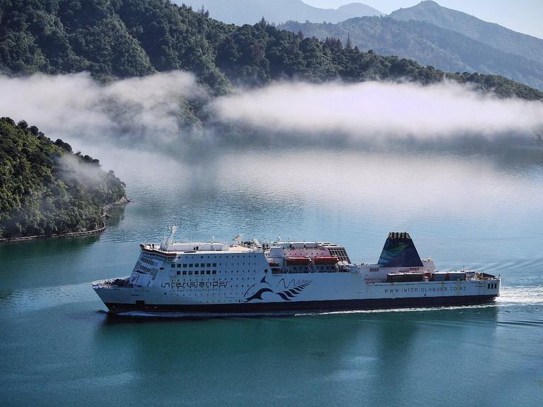 Interislander Ferry Approaching Picton