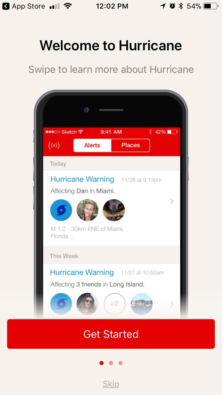 Hurricane, the app from the American Red Cross