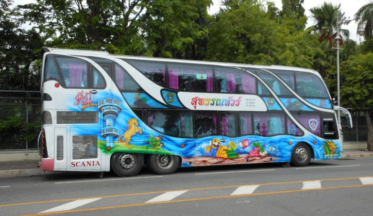 Long-distance bus in Thailand