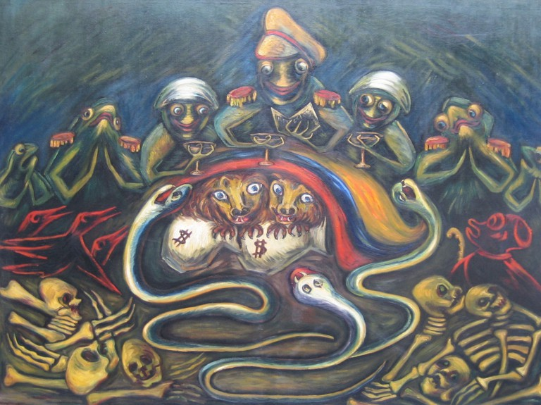 A piece by Débora Arango
