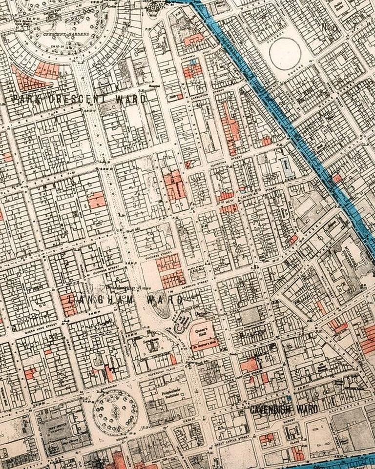 Air raid damage map of Marylebone