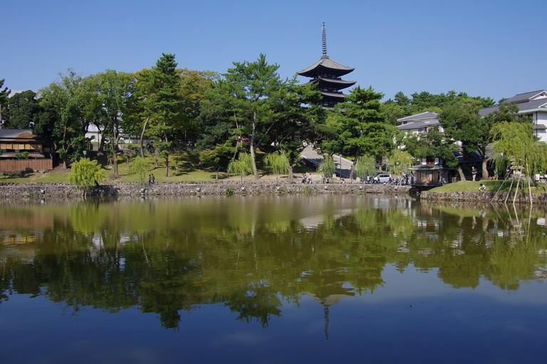Kofukuji as seen from Sarusawa pond