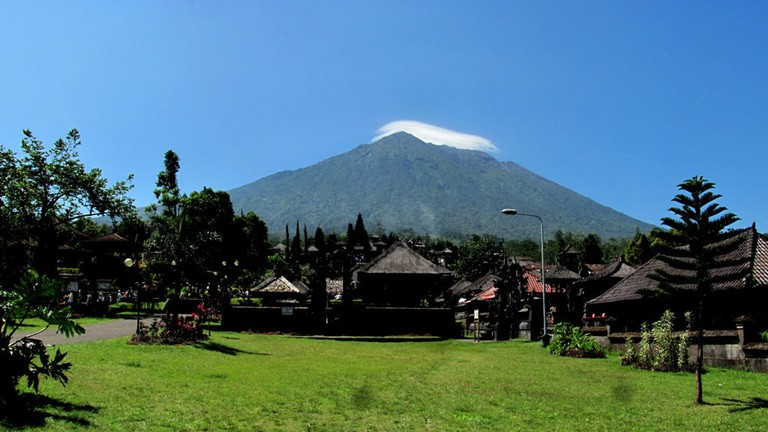 Mount Agung from Besakih Temple