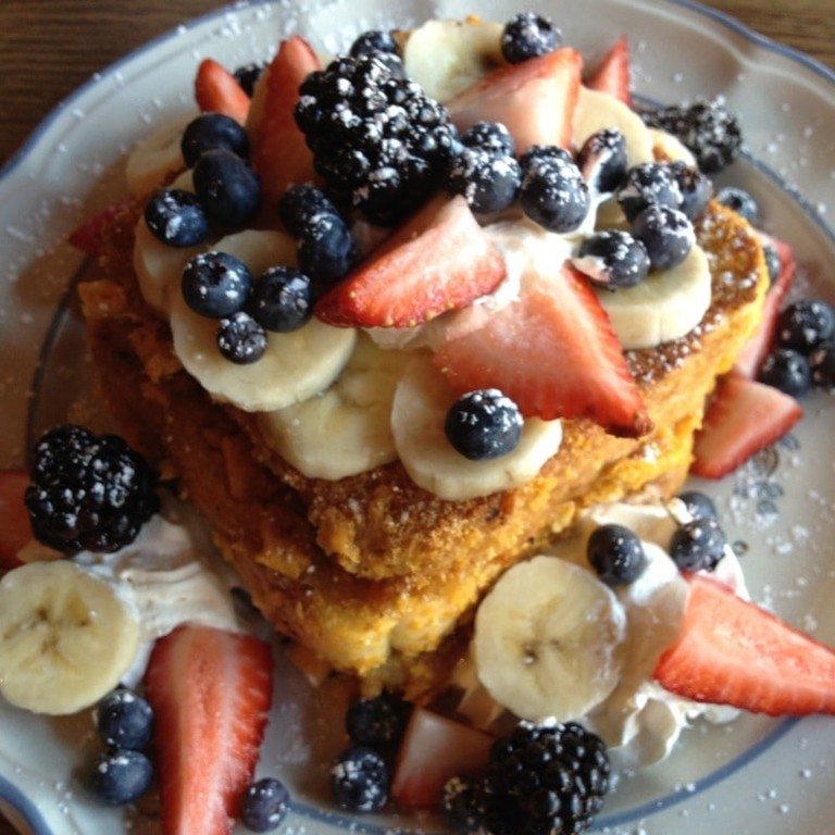 Captain Crunch french toast at the Blue Moon Café, Baltimore