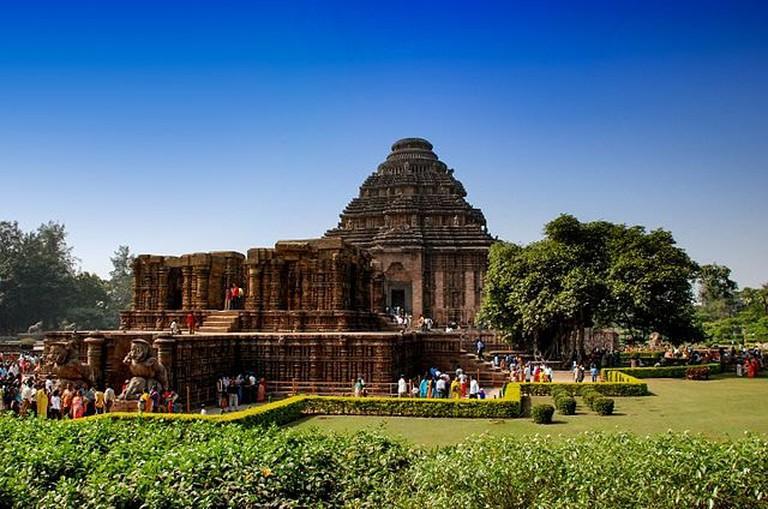 Konark Sun Temple on a busy day