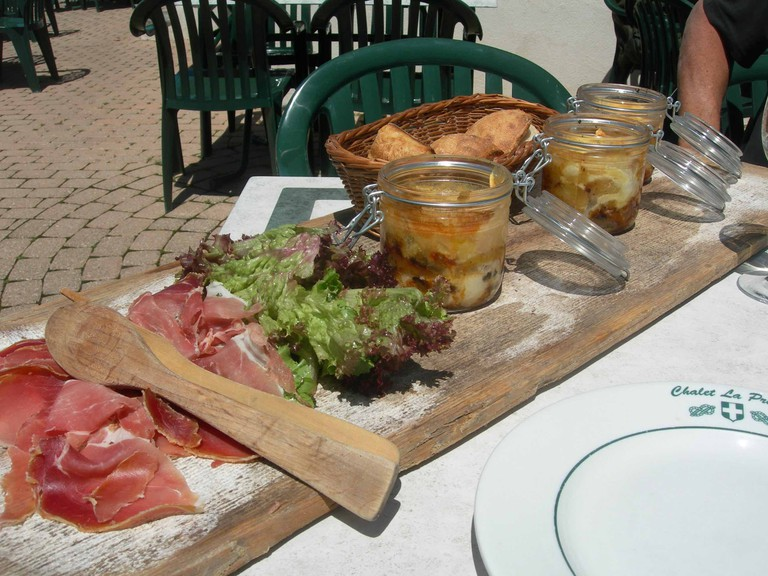 Tartiflette with charcuterie