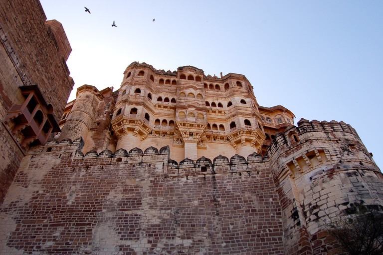 An imposing view of Mehrangarh fort